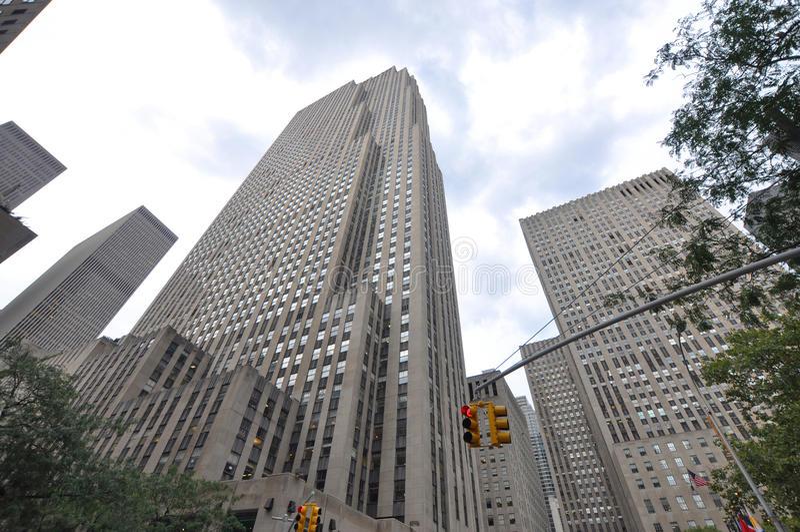 Centro de Rockefeller, Manhattan, New York City imagens de stock