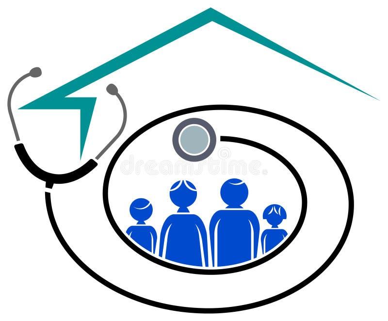 Centro de saúde da família ilustração royalty free