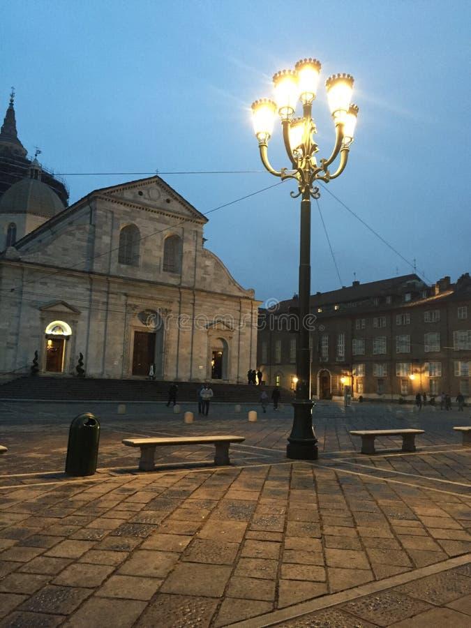 Centro de Torino, Itália imagens de stock