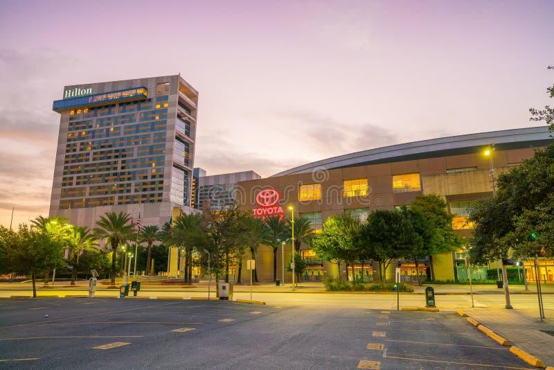 Centro de Toyota em Houston do centro imagens de stock royalty free