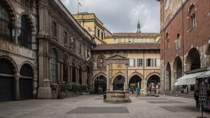 Centro de turista do brera de Milão imagens de stock