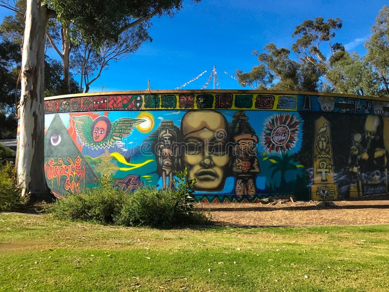 Centro de WorldBeat no parque do balboa, San Diego, Califórnia imagens de stock royalty free