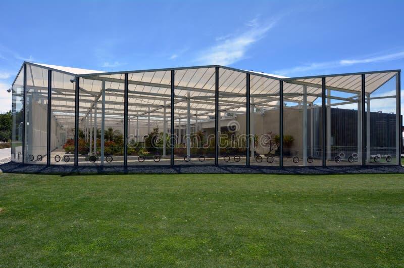 Centro degli ospiti dei giardini botanici di Christchurch - Nuova Zelanda fotografia stock libera da diritti