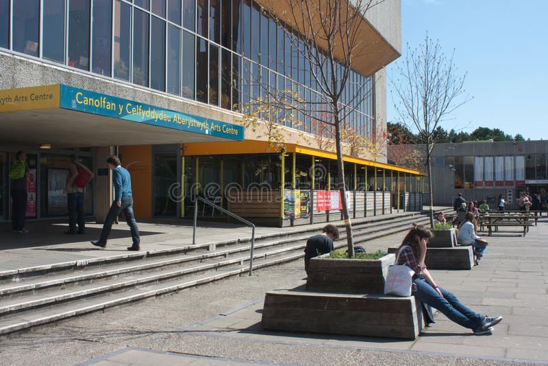 Centro del arte de la universidad de Aberystwyth imágenes de archivo libres de regalías