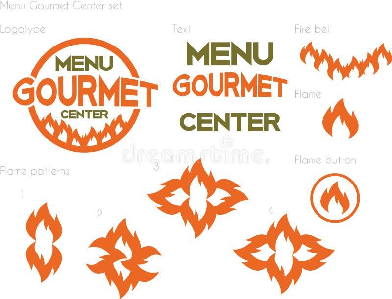 Centro del buongustaio del menu fotografie stock