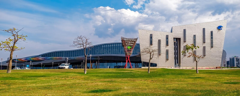 Centro del comercio justo y de congreso de Málaga foto de archivo