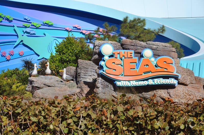 Centro Del Disney Epcot Ed I Mari Fotografia Editoriale
