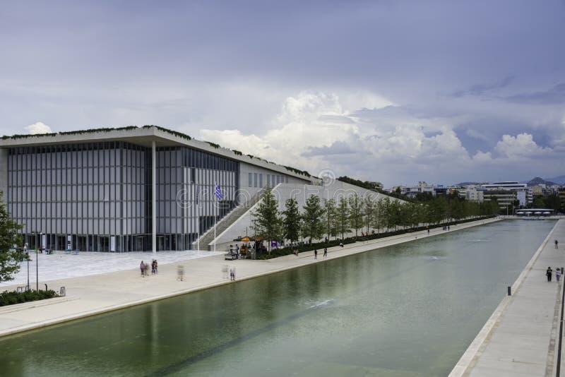 Centro del fondamento di Stavros Niarchos, parco e Greco culturali Nati fotografie stock libere da diritti
