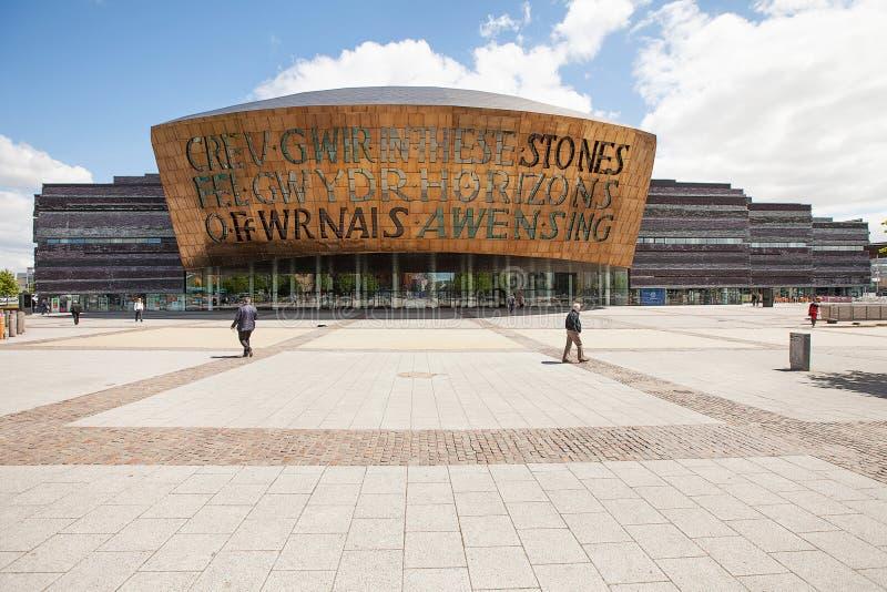 Centro del milenio de País de Gales imagenes de archivo