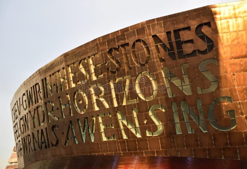 Centro del milenio de País de Gales fotografía de archivo libre de regalías