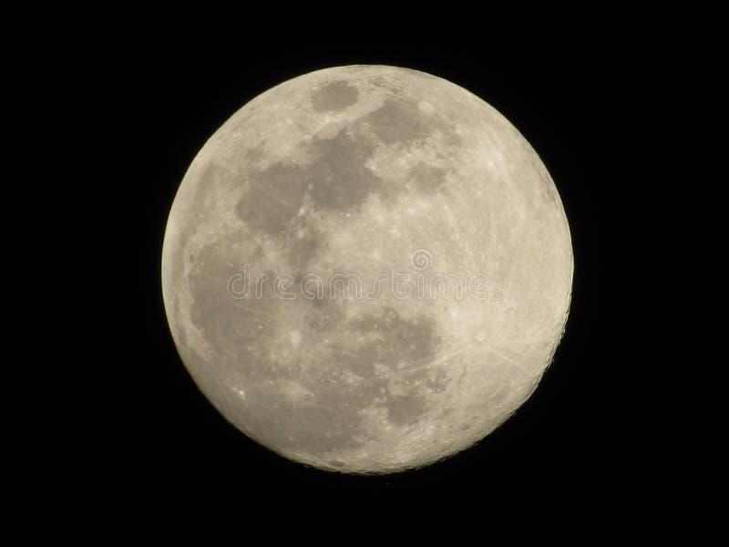 Centro del mismo tamaño de la luna del bastidor imagen de archivo