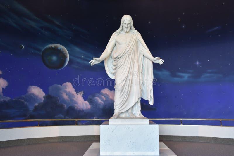 Centro del norte de los visitantes en el cuadrado del templo en Salt Lake City, Utah imagenes de archivo