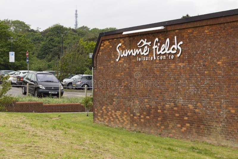 Centro del ocio de Summerfields en la ciudad de Hastings imagen de archivo