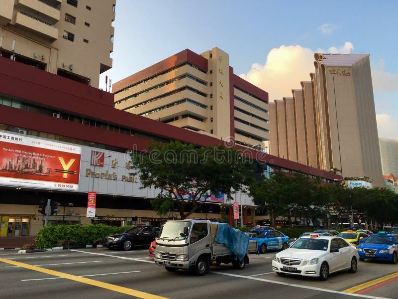 Centro del parco della gente a Chinatown a Singapore fotografie stock