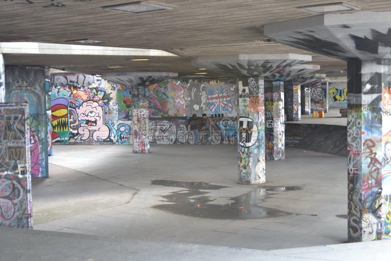 Centro del sud Londra della Banca del parco del pattino immagini stock libere da diritti