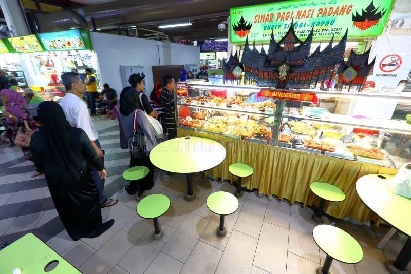 Centro del vendedor ambulante de Singapur imágenes de archivo libres de regalías