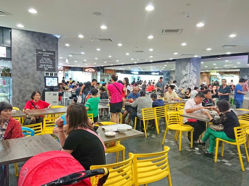 Centro del vendedor ambulante de Singapur foto de archivo