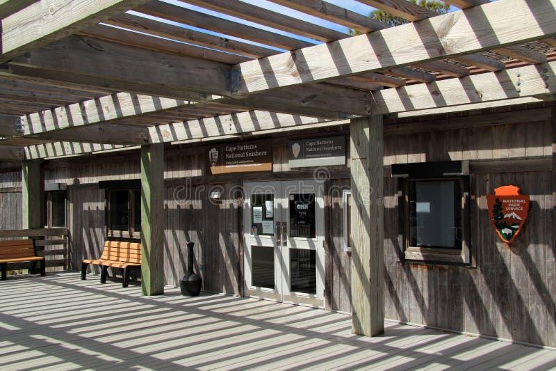 Centro del visitante de la luz de Hatteras del cabo imágenes de archivo libres de regalías