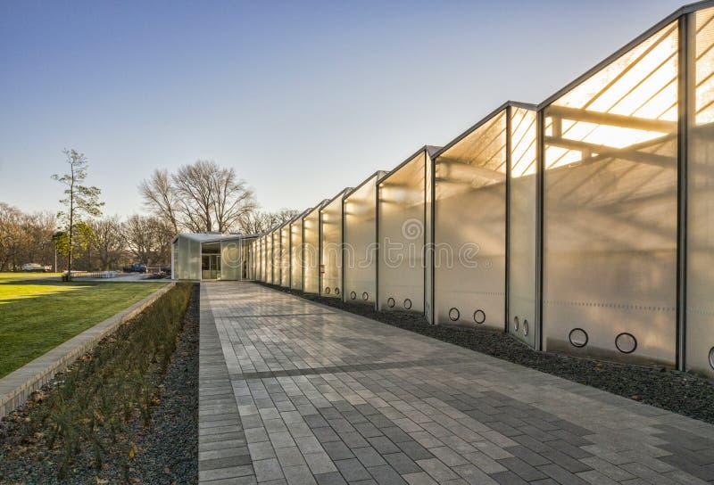Centro del visitante de los jardines botánicos de Christchurch fotos de archivo