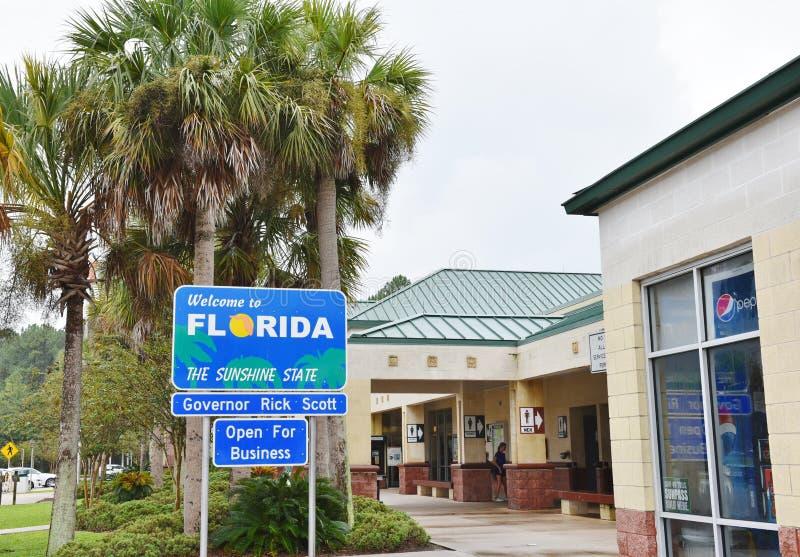 Centro dell'ospite degli S.U.A. dello stato di Florida fotografie stock
