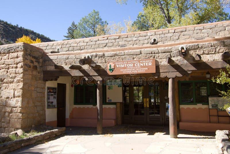 Centro dell'ospite del monumento nazionale di Bandelier fotografia stock