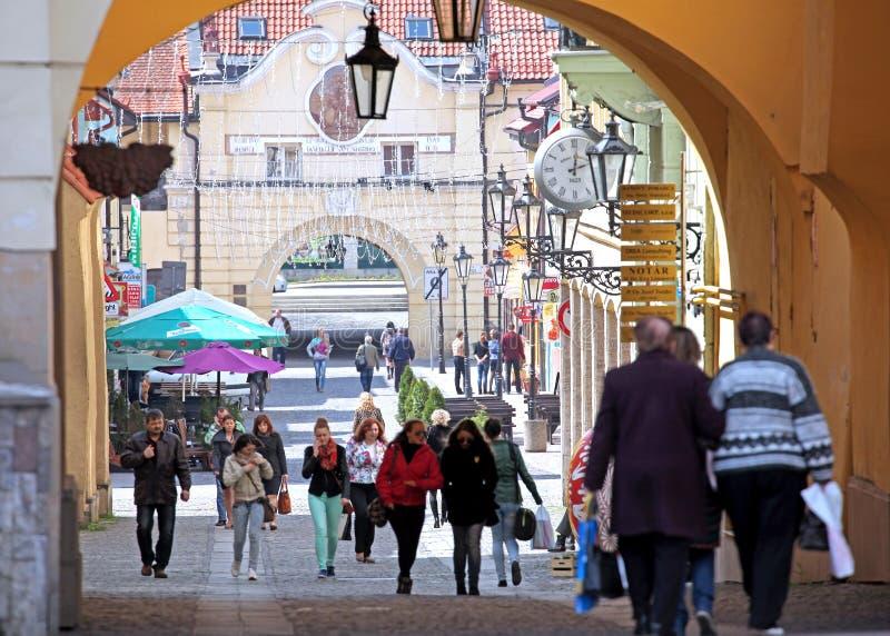 Centro della città Presov, Slovacchia fotografia stock libera da diritti