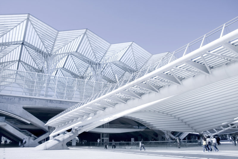 Centro di affari della costruzione moderna di architettura fotografia stock