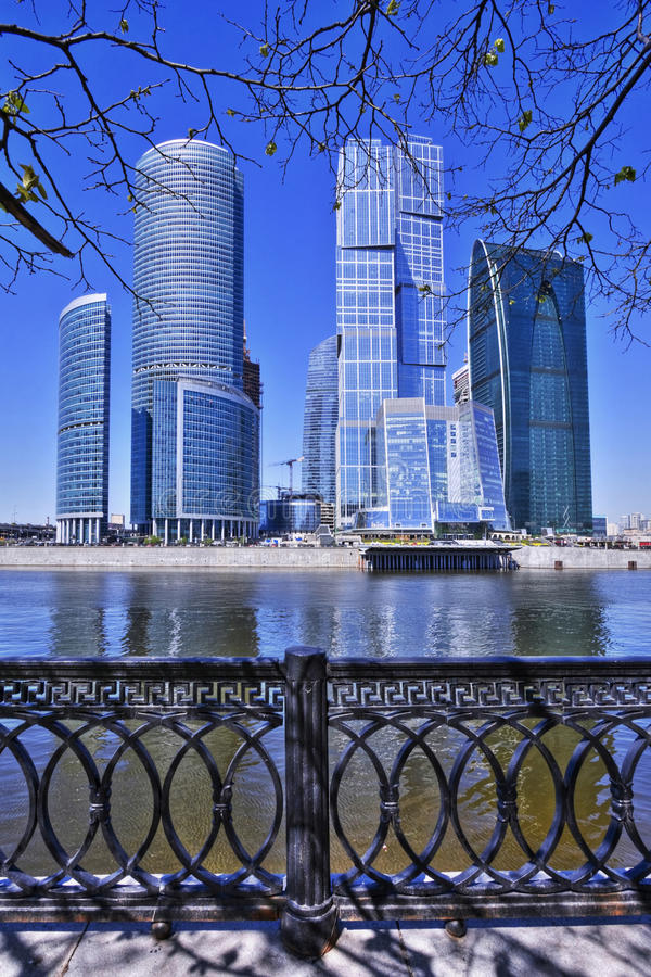 centro di affari della Mosca-città immagine stock libera da diritti