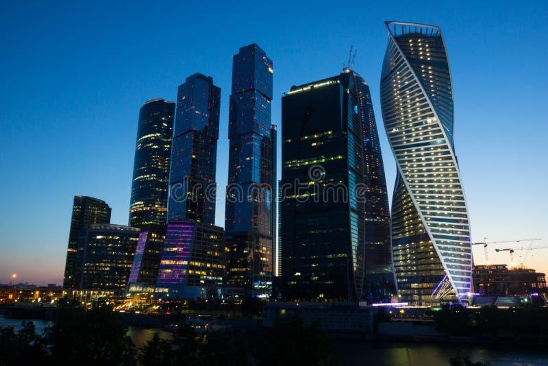 Centro di affari Mosca-Sity di Mosca immagine stock