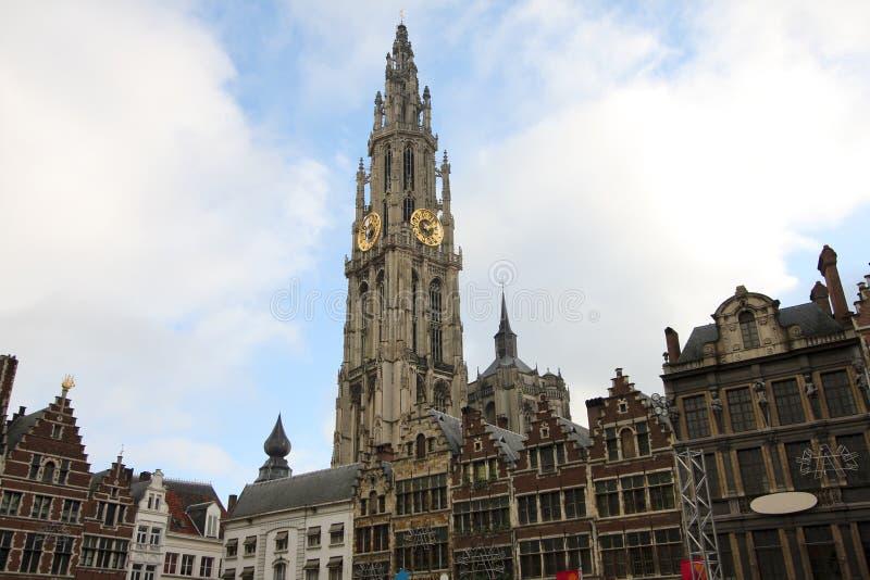 Centro di Anversa, Belgio fotografia stock