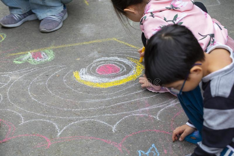 Centro di attività comunitaria, ricreazione di Limin, Taiwan, nuova città di Taipei, festival di vita fotografia stock libera da diritti