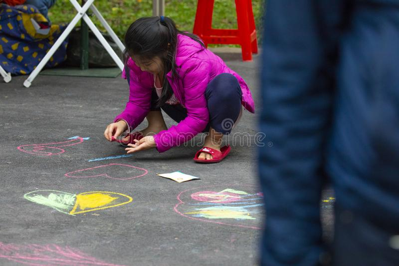 Centro di attività comunitaria, ricreazione di Limin, Taiwan, nuova città di Taipei, festival di vita fotografia stock