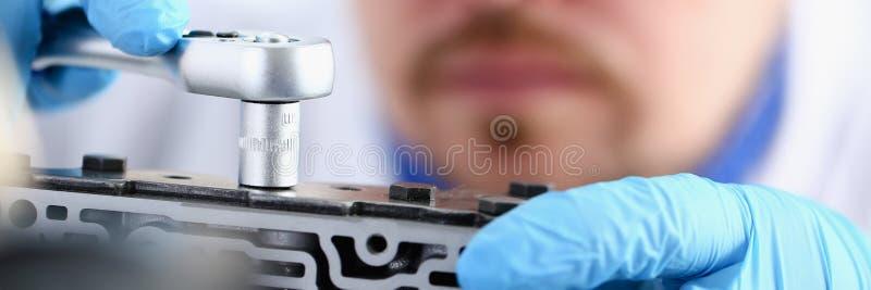 Centro di auto-cura del riparatore sulla riparazione di fotografia stock libera da diritti