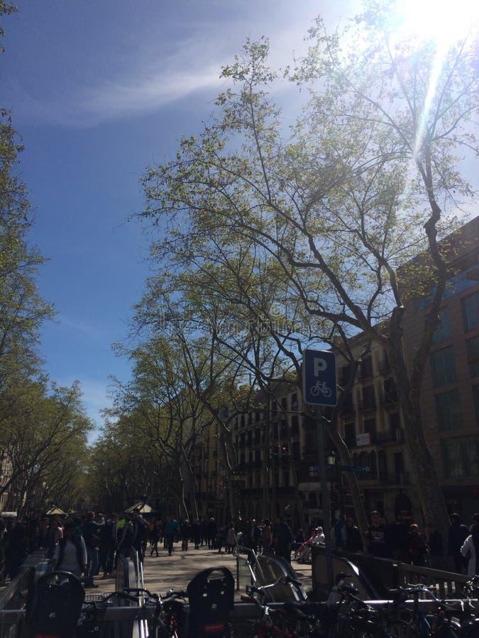Centro di Barcellona immagini stock