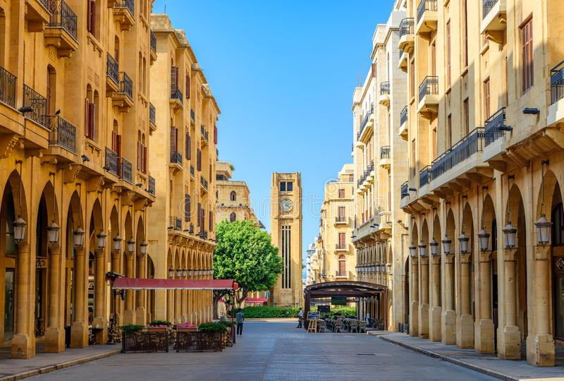 Centro di Beirut Libano fotografia stock
