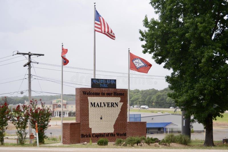 Centro di benvenuto di Malvern Arkansas immagini stock