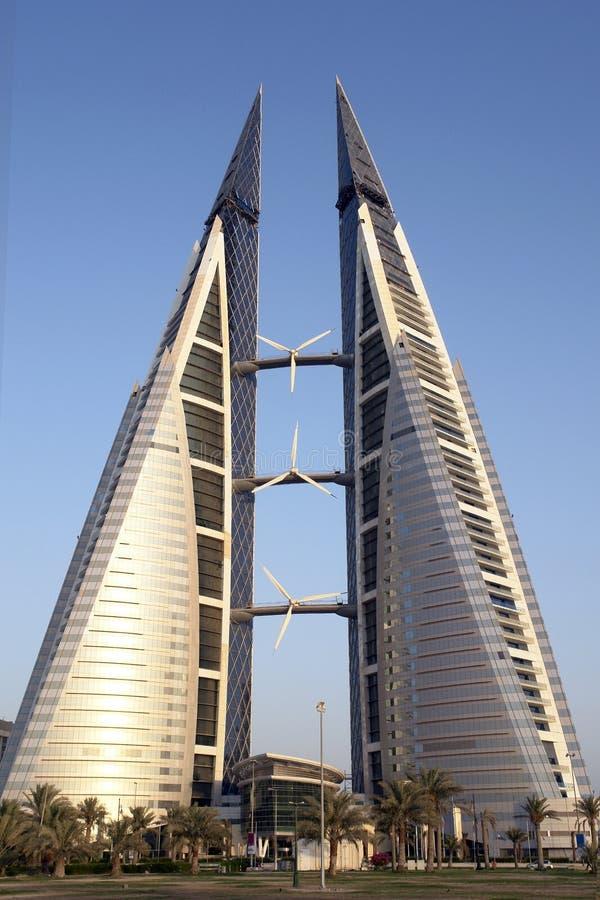Centro di commercio mondiale - Bahrain fotografia stock