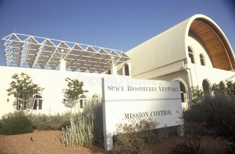 Centro di controllo della missione di biosfera 2 ad Oracle in Tucson, AZ fotografie stock libere da diritti