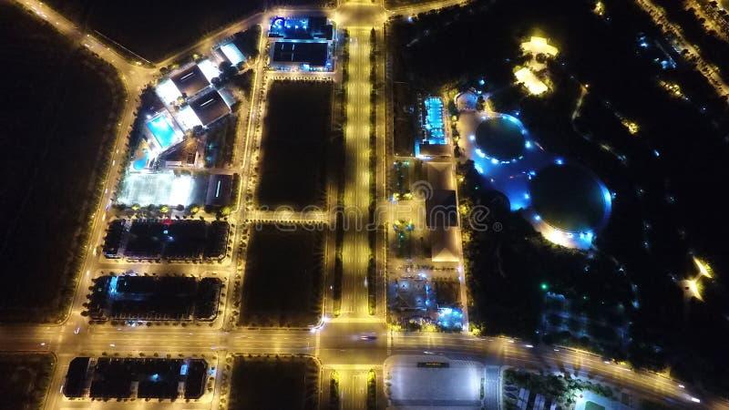 Centro di costruzione alla nuova citt? Thu Dau Mo immagini stock libere da diritti