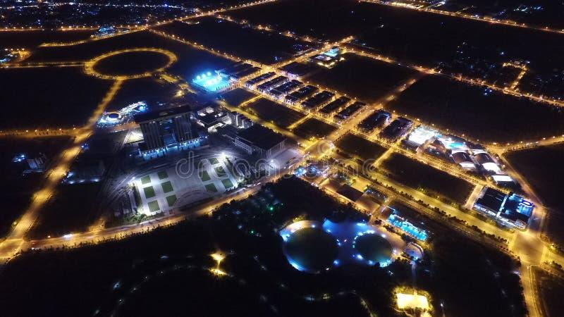 Centro di costruzione alla nuova citt? Thu Dau Mo fotografia stock