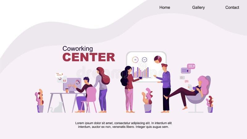 Centro di Coworking Sviluppo e gestione illustrazione vettoriale