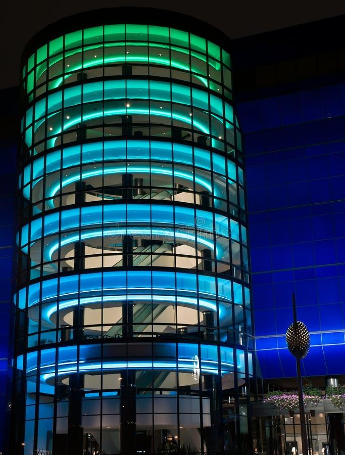 Centro di disegno pacifico alla notte. immagine stock libera da diritti