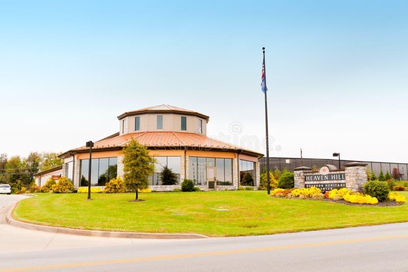 Centro di eredità del bourbon delle distillerie della collina di cielo. fotografia stock libera da diritti