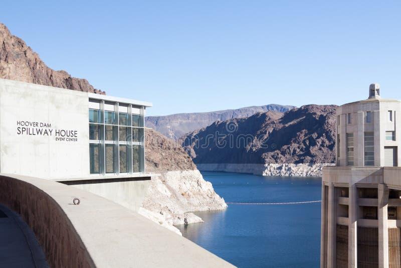 Centro di evento del canale di scarico della diga di aspirapolvere fotografie stock libere da diritti