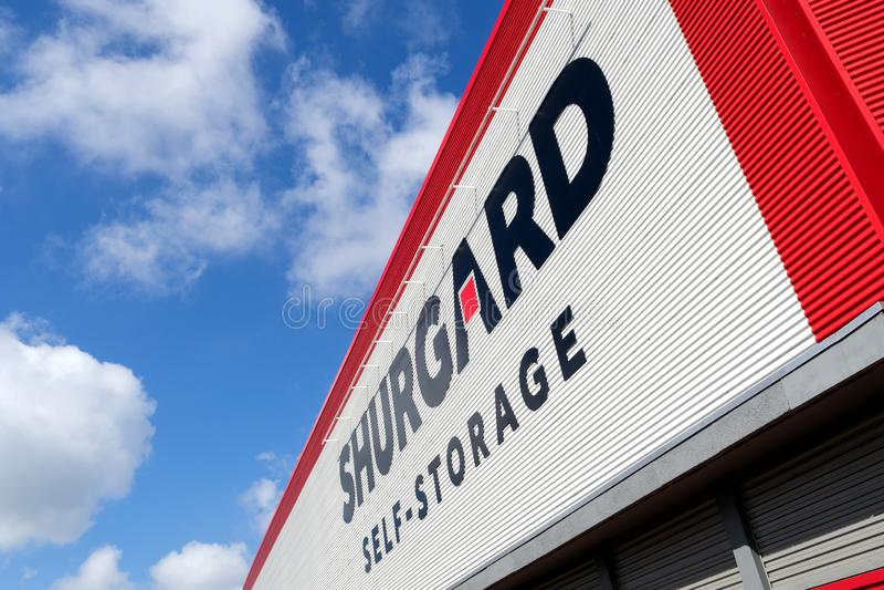 Centro di memorizzazione automatica di Shurgard in Rijswijk, Paesi Bassi fotografia stock libera da diritti