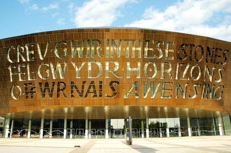 Centro di millennio del Galles fotografie stock