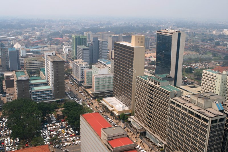 Centro di Nairobi fotografia stock