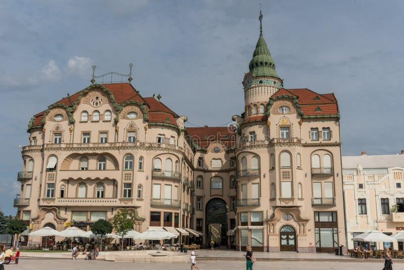 Centro di Oradea, Romania fotografie stock libere da diritti