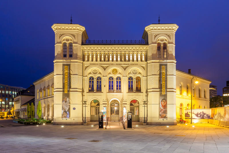 Centro di pace Nobel a Oslo immagini stock