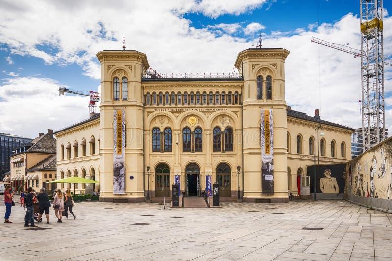 Centro di pace Nobel a Oslo fotografia stock